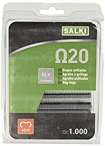 Salki 0111220 Grapa Galvanizada Omega 20 para Anillado de Cercas