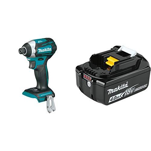 Makita XDT14Z 18V LXT Lithium-Ion Brushless Cordless Quick-Shift Mode 3-Speed Impact Driver with BL1840B 18V LXT Lithium-Ion 4.0Ah Battery