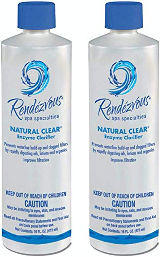 Rendezvous 106704A-02 Natural Clear Spa Enzyme, 2-Pack