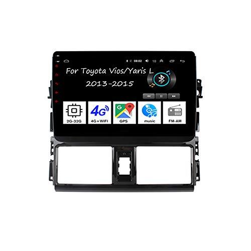 Android Autoradio 9 Pulgadas Coche Radio De Coche Pantalla Tactil para Toyota Vios/Yaris L 2013-2015 para De Coche Conecta Y Reproduce Autoradio Mit Bluetooth Freisprecheinrichtung