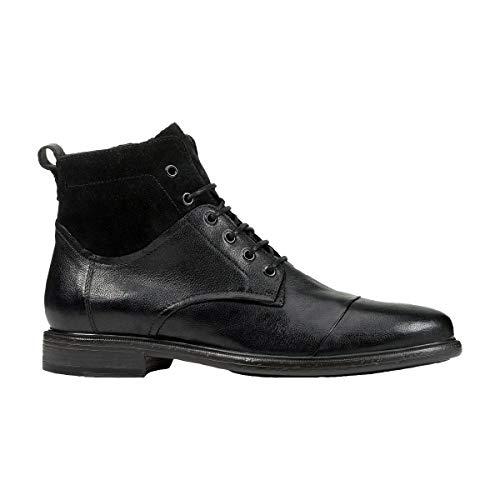 Geox Botas con cordones U Terence B - Tumb.lea Suede, color Negro, talla 39 EU