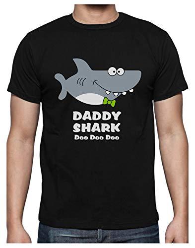 6TN Uomo T-Shirt Shark Daddy Doo Doo Doo Doo Doo Maglietta