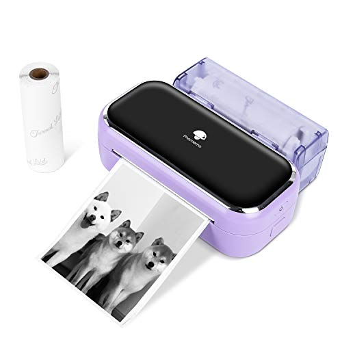 Phomemo M03 Pocket Printer, Bluetooth Printer for Smartphones,Thermal Printer Portable Printer, Compatible with iOS & Android, Great for memo,Photo & Journal,Purple