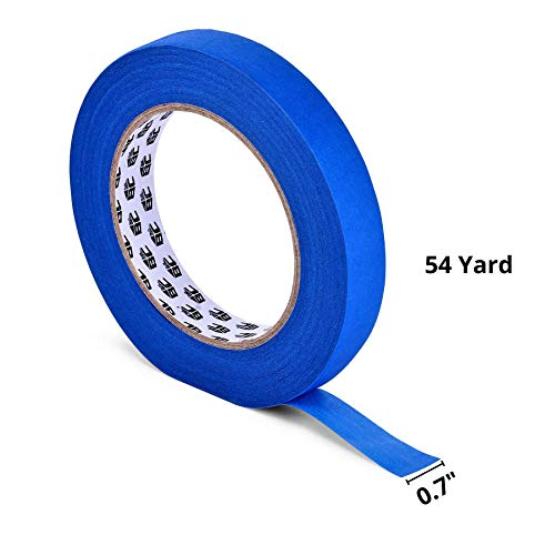 Bates- Painters Tape, 0.7 inch Paint Tape, 3 Pack of Painter Tape, Painting Tape, Masking Tape, Blue Masking Tape, Painting Supplies, Wall Safe Tape, Paint Tape, Blue Painter Tape, Tape for Drop Cloth Photo #5