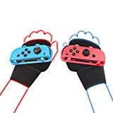 LeyuSmart Wrist Strap for Just Dance 2021 2020 2019, Armband Compatible with Nintendo Switch Dancing Game Accessories, Kids Size Hand Free Wristband for JoyCon Grip (Small Size Red+Blue)