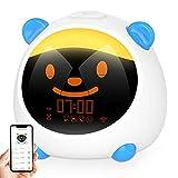 Reloj Despertador Digital, Despertador Infantil niña para Alarmas Dobles, Relojes Infantiles Luz de Noche con 4 Modos, 7 Luces de Colores Ajustables, 10 Sonidos, Función Snooze,APP/Sonida Control