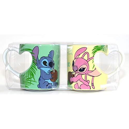 Disneyland Paris Stitch and Angel Couple - Juego de tazas