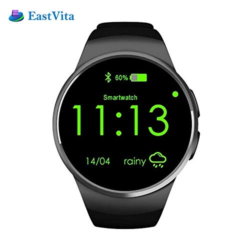 SSSabsir Bluetooth Smart Watch Phone KW18 SMTK2502C SIM&TF Card Heart Rate Wearable Smartwatch Black