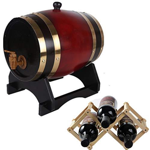 Secchio Multiuso Per Uso Domestico Botte di Whisky, 5L Secchio di Invecchiamento Del Secchio Decanter Tavolo di Servizio Conservazione per Famiglie Vino Whisky Birra Che dà una Cremagliera Del Vino Ro