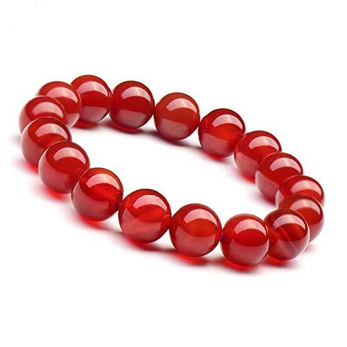 Mkxiaowei Source de Red Agate Bracelet Naturel Agate Bijoux recommandé Guardian Dieu Bracelet Hommes Femmes Article
