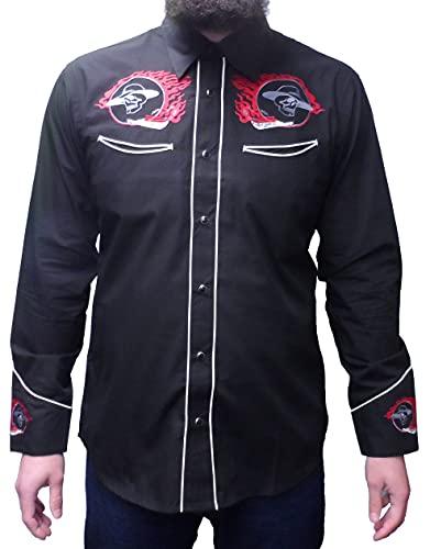 redstar rodeo black red rockabilly