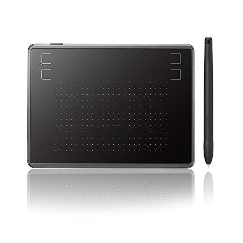 Tableta GráFica Hs64 (Compatible con Sistema Operativo Android) Tableta de Dibujo GráFico con Niveles de Sensibilidad a la PresióN del LáPiz