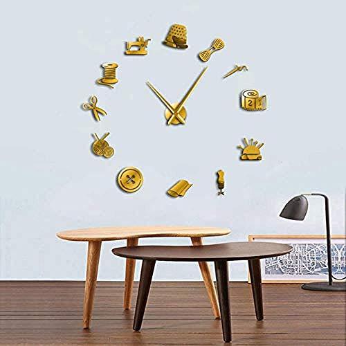 BBNNN Sastre DIY DIY Reloj de Pared Grande para Sala de Estar...