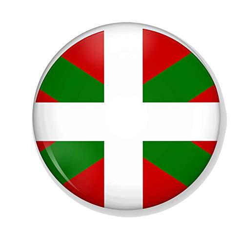 Gifts & Gadgets Co. Kühlschrankmagnet, Motiv Baskische Flagge Spaniens, 38 mm, klein, Bedruckt, rund