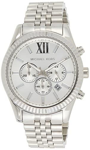 Michael Kors Reloj analogico para Hombre de Cuarzo con Correa en Acero Inoxidable MK8405