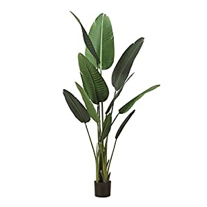 kerryshop Simulation Tree 47.24 Inches Tall Simulation Potted Traveler Banana Ornaments, Faux Tree Used for Home Office Decoration,1 Piece. Artificial Tree