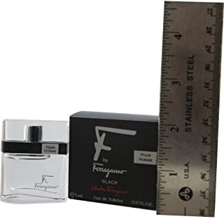 Salvatore Ferragamo Eau de Toilette Spray for Men, Black, 0.17 Ounce