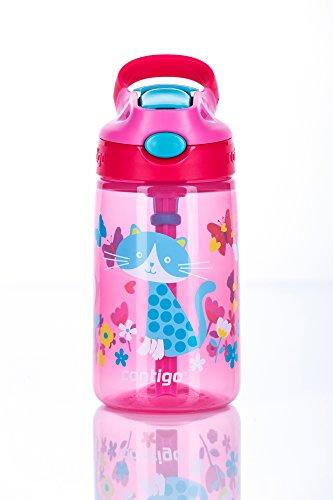 Contigo Gizmo Flip butelka na wodę dla dzieci, ze słomką, bez BPA, szczelna, idealna do szkoły i uprawiania sportu, 420 ml