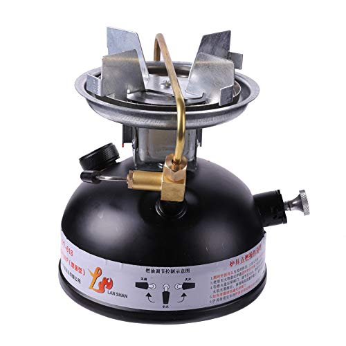 Aesy Mini Estufas de Combustible Líquido, Estufa de Gasolina Al Aire Libre Quemadores de Estufa de Queroseno Portátiles Estufa de Cocina de Hornillos Múltiple (Blanco)