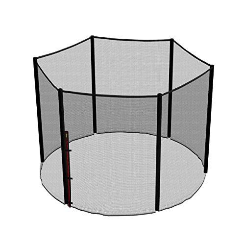Ampel 24 - Rete di Sicurezza di Ricambio per Tappeto Elastico con Ø 244cm / Rete Esterna con 6 Pali/Antistrappo, Resistente agli UV