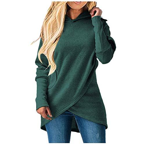 VEMOW Sweatshirt Damen Langarm Kapuzenpullover Herbst Winter Hoodie Beiläufig Locker...