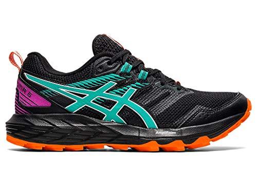 ASICS Women's Gel-Sonoma 6 Running Shoes, 5M, Black/Baltic Jewel