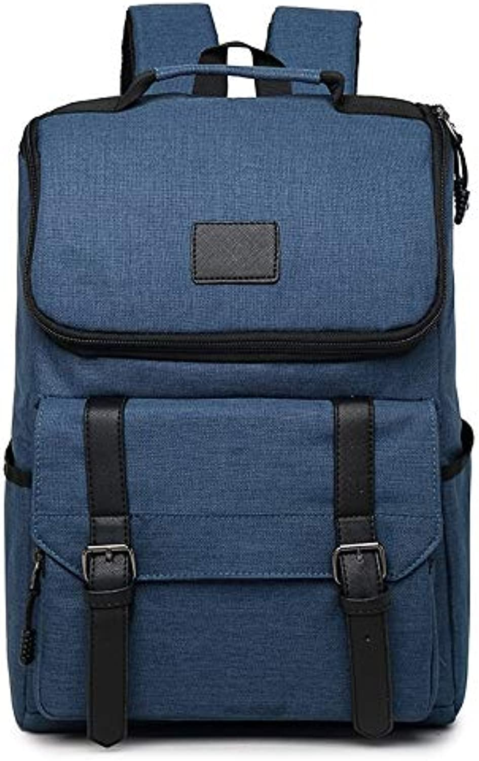 Men's Backpacks Casual Outdoor Travel Backpacks Unisex Computer Bags 2 colors (color   bluee)