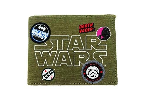 Star Wars Wallet Porte-monnaie, 12 cm, Vert (Khaki)