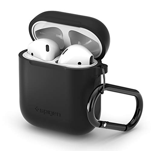 Spigen Silicone Fit Compatible con Apple Airpods 1&2 Funda [LED Frontal no Visible] - Negro