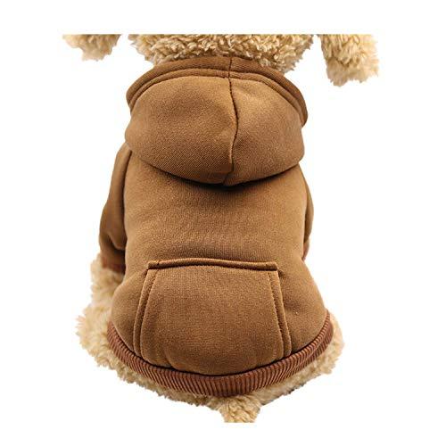 Yowablo Hund Pullover, Hundepullover, Haustier Sweater, Sweatshirt, Hunde Pullover, Kleidung, Hundebekleidung, Hundepullover, Baumwolle Sweatshirt für Welpen große Hunde (L,1- Kaffee)