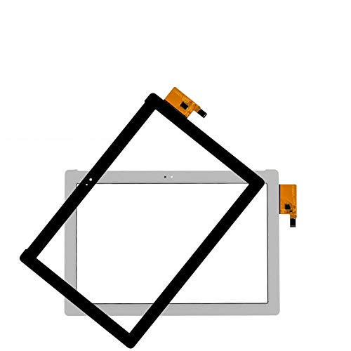 Logo Pantalla Ajuste for ASUS ZenPad 10 ZenPad Z300 Z300M P00C Z300CNL P01T de la Pantalla táctil Panel Sensor de Las Pastillas Amarillo Cinta del Cable de Piezas (Color : Z300CNL P01T White)