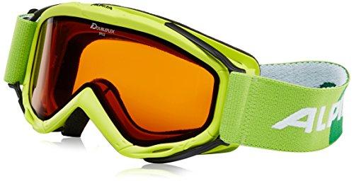 ALPINA Kinder Skibrille Spice DH, Rahmenfarbe: Lime, Linsenfarbe: DH S2, One Size, 7058171