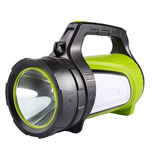Proyector LED portátil con luz lateral, luz de advertencia de luz de aventura al aire libre multifunción recargable usb, linterna resistente al agua de luz brillante exterior