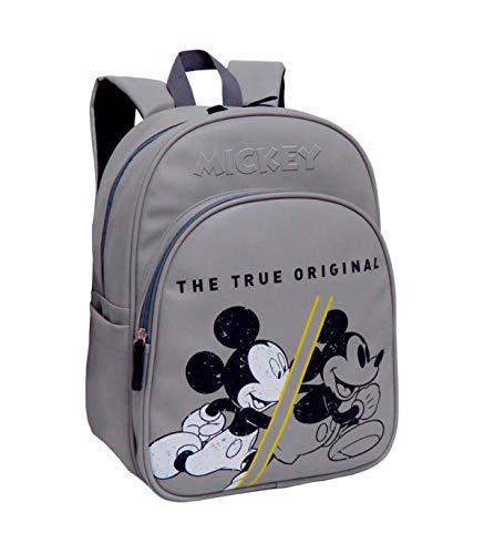 Disney Mickey 90 Aniversario True Original Mochila Infantil, 42 Cm, Gris
