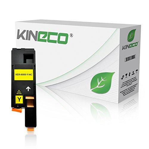 Toner kompatibel mit Xerox Phaser 6000 6010 N, für Xerox WorkCentre 6000 Series, WC 6015 VB VNI - 106R01629 - Yellow 1.400 Seiten