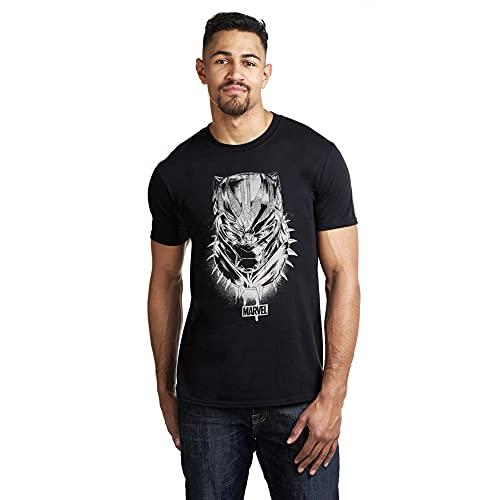 Black Panther Mask Camiseta, Negro...