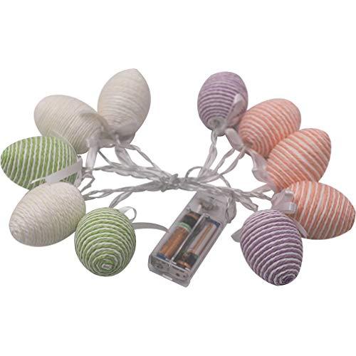 RHNE Luces de Huevo de Pascua Decoración de Pascua Luces de Cadena Luces LED Luces de Cadena de Huevo de Colores Decoración de Fiesta Decoración del hogar Multicolor 10 Luces 1.5 Metros