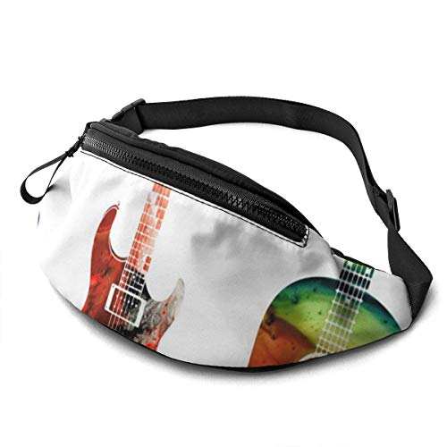 Hüfttasche Bunte Gitarren Hüfttasche/Gürteltasche/Reisetasche für Männer Frauen im Freien Sport Marathon Wandern