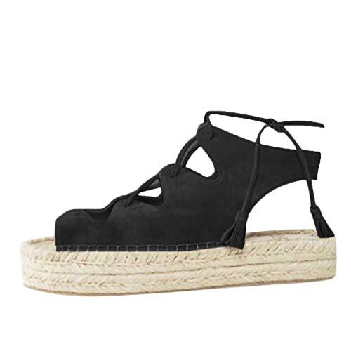Fannyfuny_Zapatos de Verano Sandalias Mujer Sandalias de Vestir Sandalias Plataforma Zapatos de Tacón Clásicos Espigones con Hebillas Sandalias de Punta Abierta 35-43