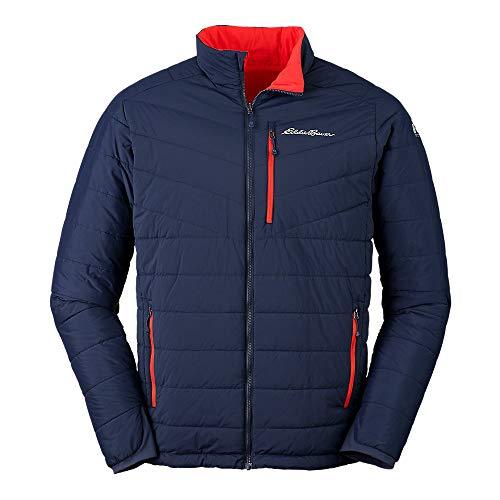 Eddie Bauer Men's IgniteLite Stretch Reversible Jacket, Med Indigo Regular M