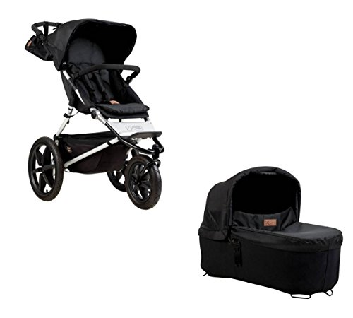 Mountain Buggy Terrain 3 + Carrycot onyx, Kinderwagen + Babyschale