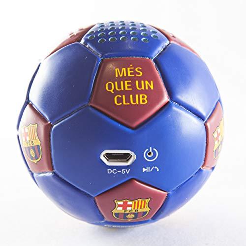 Speaker- Altavoz Bluetooh. Forma y tacto de balón. Producto oficial FC Barcelona....