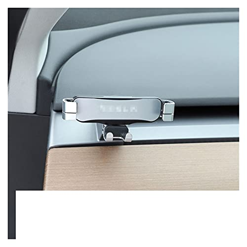 Phoenixset Coche Teléfono Móvil Clip Clip FIT para Tesla Modelo 3 2016 2017 2018 2019 2020 Soporte de Montaje GPS Accesorios para automóviles de Soporte de navegación (Color Name : Left Rudder)