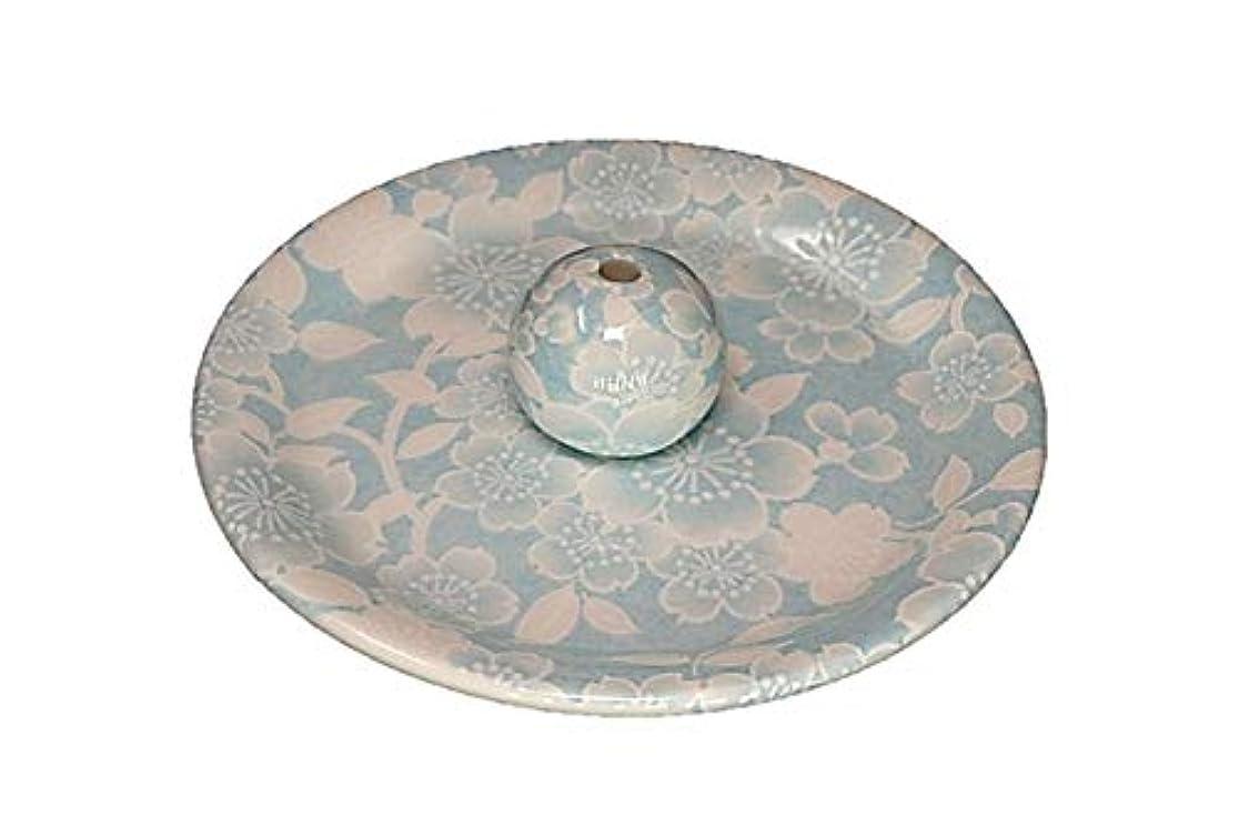 報復監督する批評9-36 桜友禅 水色 9cm香皿 お香立て お香たて 陶器 日本製 製造?直売品