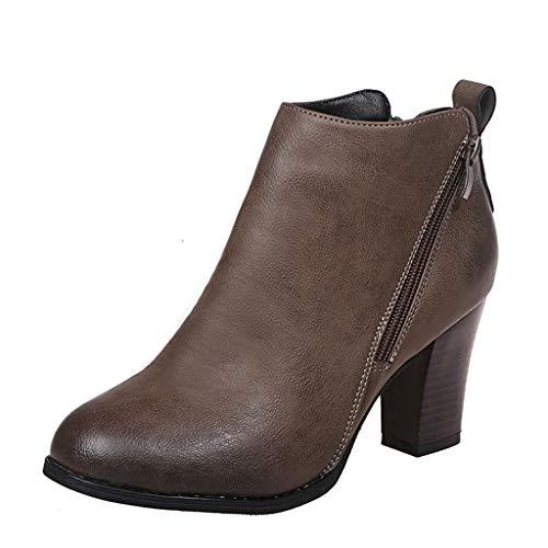 UMore Botas de Nieve para Mujer Zapatos Mujer Deportivos Running Botas De Combate Militares De La Hebilla Punky Retro del Estilo del Vintage Gótico De Steampunk De Las Mujeres