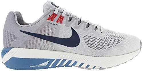 Nike Air Zoom Structure 21, Zapatillas de Entrenamiento para Hombre, Negro (Black/White-Wolf Cool Grey 001), 43 EU