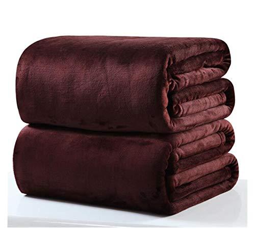WYFDC Manta Mantas Cálidas para El Invierno Pequeño Súper Cálido Sólido Micro Micro Pelleza Fleece Shoed Sofa Sofa Ropa De Cama (Color : Dark Brown, Size : 50x70cm)