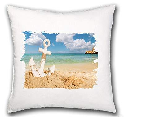 MERCHANDMANIA COJIN Ancla Isla Playa MAR Caribe hogar Comodo cussion