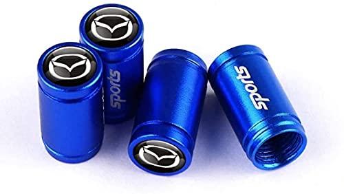 Coche Neumático Tapas Válvulas para Mazda Axela 2 3 Ms 6 Cx-5 Cx-4 Cx3 Cx5 Axela Demio Artzma, Prueba Agua Polvo Herrumbre Con Logotipo Decoración Accesorio