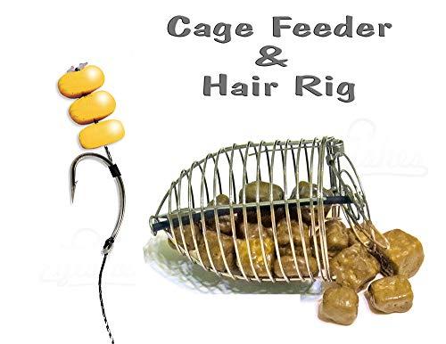 Karpfen Fertigmontage Cage Feeder & Hair Rig #4 - Grob Köder Angeln Tackle